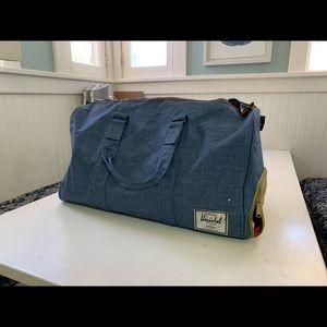 Herschel Company denim backpack and duffel bag